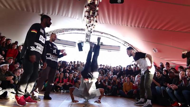 Juste Debout Paris 2016 - Hip Hop - Waydi Rochka vs Ben Ukay - Top 32