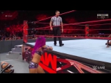 WWE RAW 08_07_17 Triple Threat Qualifying Match _ Sasha Banks vs Alicia F