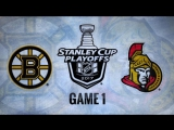 NHL 17 PS4. 2017 STANLEY CUP PLAYOFFS 100th FIRST ROUND GAME 1 EAST BOS VS OTT. 04.12.2017. (NBCSN) !