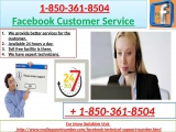 Immediately Contact +1-850-361-8504 Facebook Customer Service for Instant Help