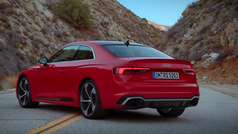 Audi RS 5 Coupe 2017 (450 hp) ускоряется с 0 до 100 km⁄h за 3,9 секунды