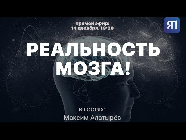 НЕ ПРОПУСТИТЕ! Реальность мозга. В гостях Максим Алатырёв у Ясен-Пень TV