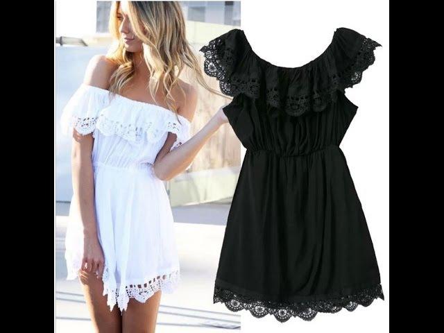 Крой и шитье платья с открытыми плечами