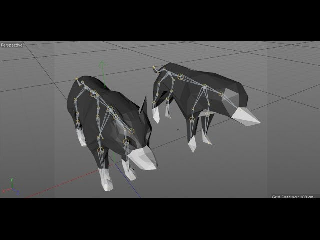 Speed modeling low poly wolf