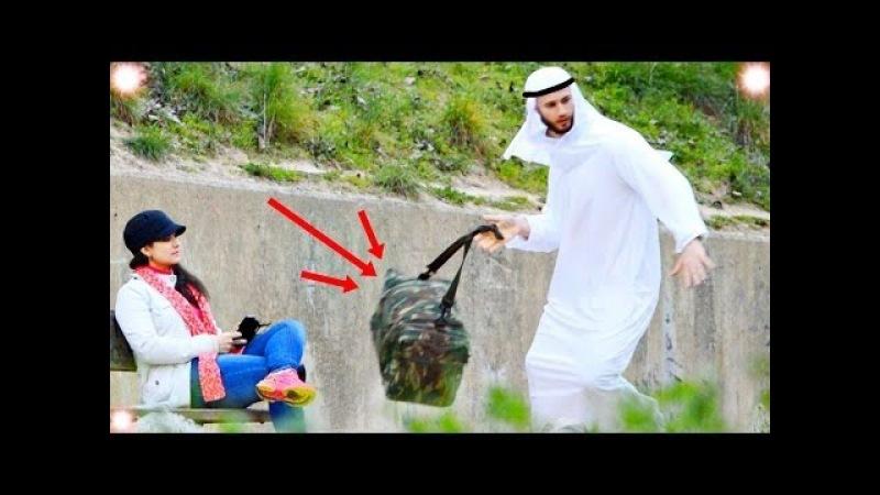 ПРАНК С БОМБОЙ!|АЛЛАХУ АКБАР|СМЕШНЫЕ РЕАКЦИИ / Prank explosion bomb with shahid