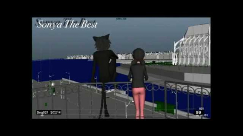 Miraculous LadyBug Season 2 The balcony scene (rough animation)