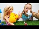 Видео для детей. Поделки делаем КУРОЧКУ🐔 своими руками! Мастерская Барби на ка...