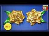 Роза канзаши - ещё один интересный вариант своими руками, мастер-класс DIY