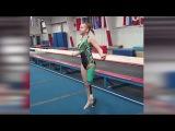 One-Legged Gymnast Overcomes the Odds