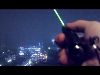 green laser pointer Laser Зеленая лазерная указка 200 mW+ 1 насадка