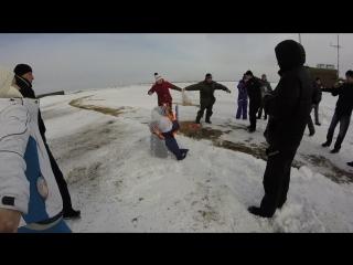 Аэродром ДОСААФ Манский Празднование русского праздника Масленица