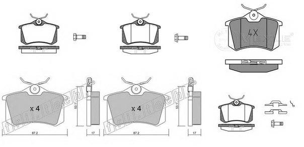 Комплект тормозных колодок для BENTLEY AZURE II