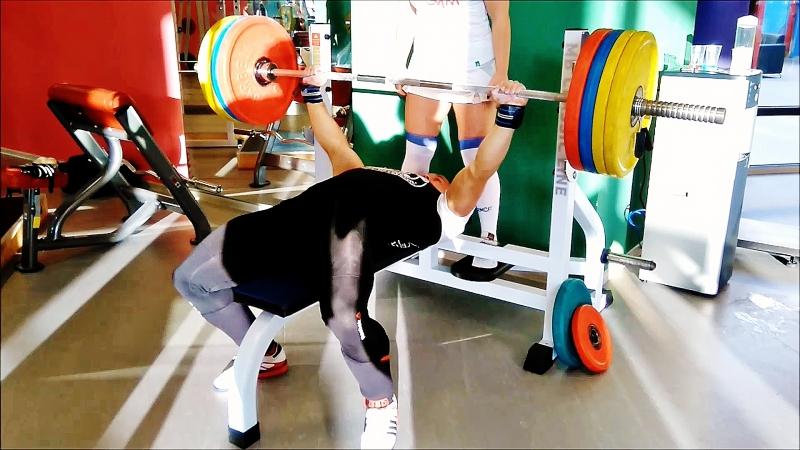 Squat 180-200-210 kg and Bench press 150-160-170 kg 10.07.2017