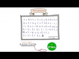 Xikwor rasmulxat - Wakhi Rasmulxat - Алфавит Ваханского языка-Алифбои забони вахони