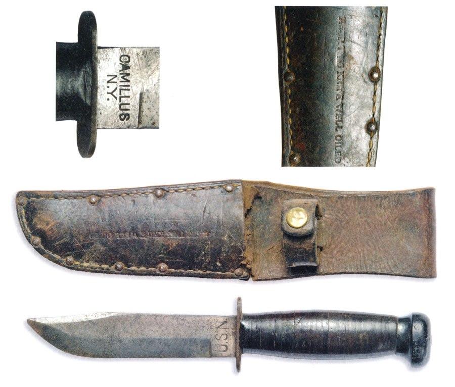 США. Штатный нож USN – United States Navy, военно–морского флота США периода 2 мировой войны.