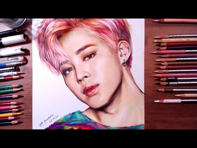 BTS : Jimin - colored pencil drawing   drawholic