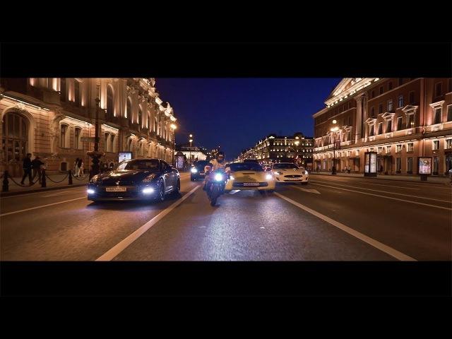 Night traffic from Saint-Petersburg