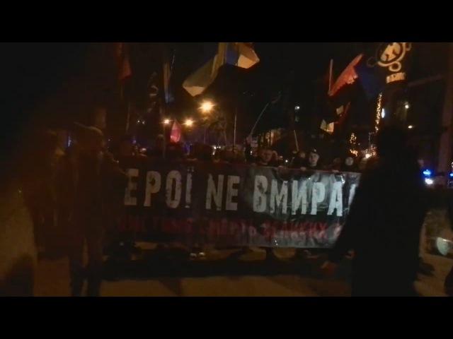 Марш в честь Сашка Білого в Одесі. Жив барига Порошенко, продавав країну. Хай уйобує в Ізраіль, Слава Україні!