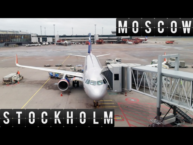 A320 Flight Timelapse from Moscow (SVO) to Stockholm (ARN) 1228km