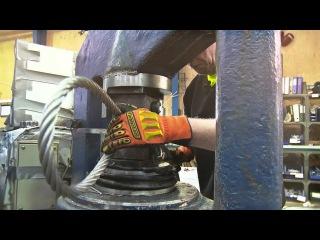 Как делают петлю на стальном тросе
