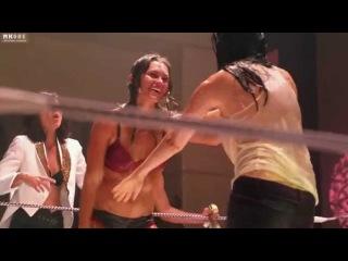 эротика порно! Mia Kirshner - Erotic Lesbian Wrestling - From The L Word