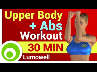 Upper Body and Abs Workout - No Equipment Exercises At Home