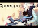 Asriel Frisk Undertale Speedpaint SAI/photoshop