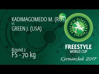 Round 2 FS - 70 kg: J. GREEN (USA) df. M. KADIMAGOMEDO (RUS), 8-6