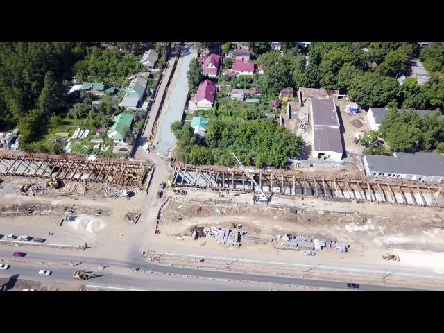 Строительство туннеля для трамваев (г. Самара) 17.08.2017