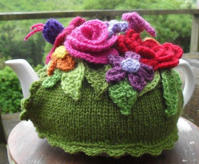 针织茶壶套(花朵) - maomao - 我随心动
