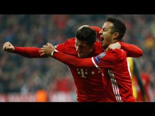 Бавария - Арсенал 5:1. Обзор матча. ЛЧ 2016/17. 1/8 финала. 1-й матч.