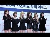 TV10 170222 GFRIEND &amp BLACKPING, TWICE @ 6th Gaon Chart Music Awards Red Carpet