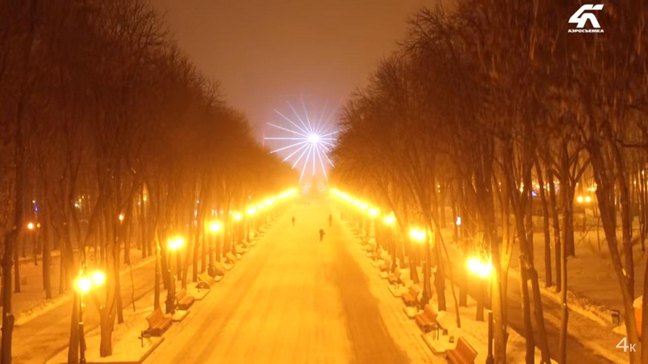 Вечерний парк Горького завораживает красотой (ВИДЕО)