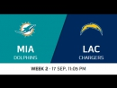 NFL 2017-2018 / Week 02 / Miami Dolphins - Los Angeles Chargers / Condensed Games / Сжатые игры / EN