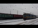 Электровоз дэ1-040 резервом на станции Красный Лиман