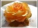 МК Как сделать розу с плоским основанием