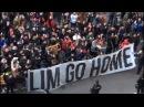 Protesta contra Peter Lim en Mestalla previa al Celta