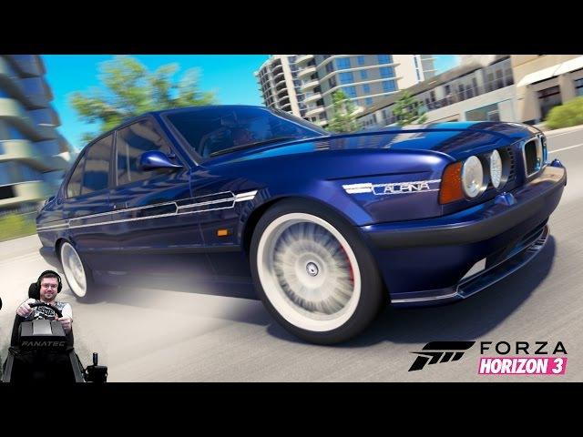 Безбашенная 1170 сильная BMW M5 E34 в фул тюнинге - Forza Horizon 3 на руле Fanatec CSL Elite Wheel