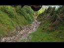 Wingsuit Terrain flight through Crack In Switzerland