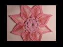 Цветок крючком Ирландское кружево Мотивы flower crochet motif Irish lace