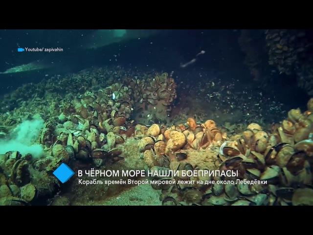 Дайверы обнаружили на дне Черного моря боеприпасы времён Второй мировой войны