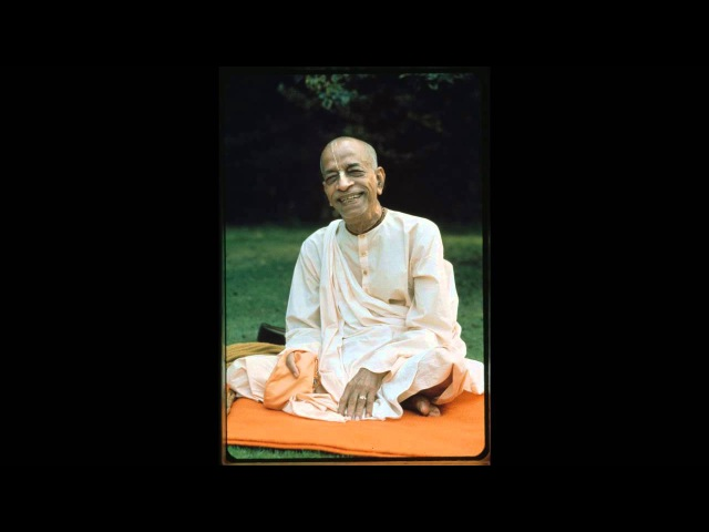 Prabhupada chanting japa with group No Music