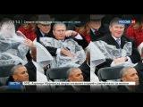 Борьба Джорджа Буша с плащом от дождя/Хиллари ревнует мужа Билла Клинтона на ина...