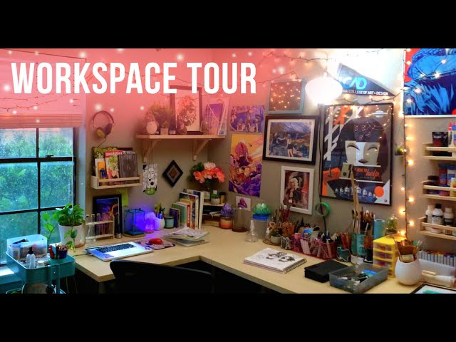 Art Studio Workspace Tour Jacquelin de Leon
