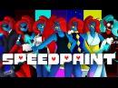 SpeedPaint! Alternative Universe Undyne! (Undertale AU's) part 1