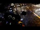 Night, rain and bike