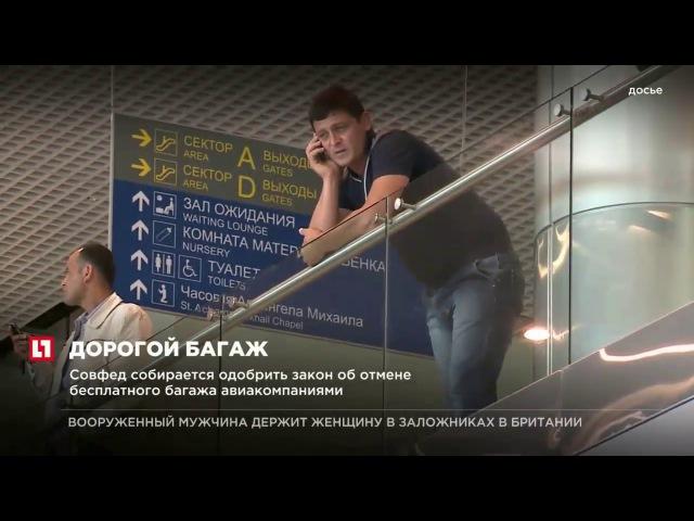 Совфед собирается одобрить закон об отмене бесплатного багажа авиакомпаниями