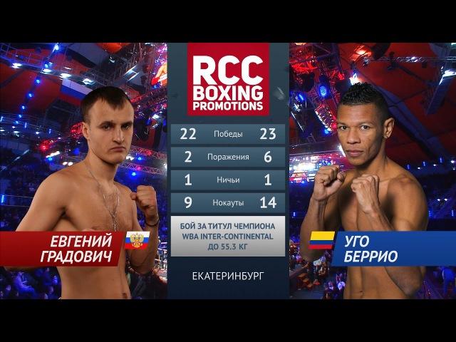 Евгений Градович vs Уго Беррио / Evgeny Gradovich vs Hugo Berrio