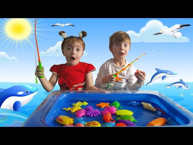 Беби Бон Катя на рыбалке для детей Развлекательное детское видео