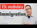 English vocabulary lesson B2 Immigration Vocabulario en inglés